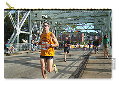 Carry-all Pouch featuring the photograph Bridge Runner by Alice Gipson