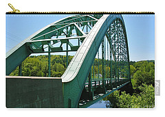 Carry-all Pouch featuring the photograph Bridge Spanning Connecticut River by Sherman Perry