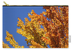 Carry-all Pouch featuring the photograph Brilliant Fall Color And Deep Blue Sky by Mick Anderson