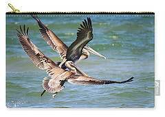 Brown Pelicans Taking Flight Carry-all Pouch