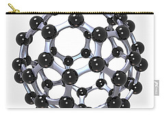 Buckminsterfullerene Or Buckyball C60 18 Carry-all Pouch by Russell Kightley
