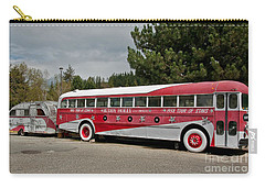 Carry-all Pouch featuring the photograph Buddy Holly 1958 Tour Of Stars Bus Art Prints by Valerie Garner