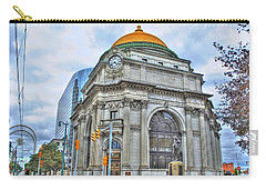 Carry-all Pouch featuring the photograph Buffalo Savings Bank  Goldome  M And T Bank Branch by Michael Frank Jr