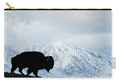 Carry-all Pouch featuring the photograph Buffalo Suvived Another Yellowstone Winter by Dan Friend