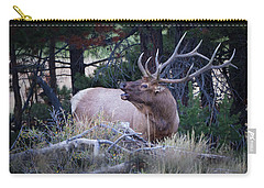Bugling Bull Elk Carry-all Pouch by Ronald Lutz