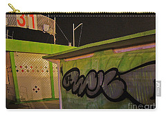 Carry-all Pouch featuring the photograph Building 31 Rimini Beach Graffiti by Andy Prendy