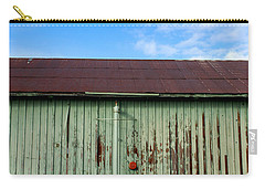 Carry-all Pouch featuring the photograph Building Series - Red Shack by Kathleen Grace