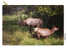 Bull Elk 7x7 Carry-all Pouch by Ronald Lutz