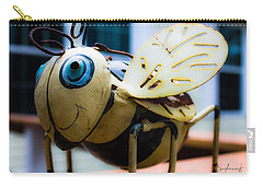 Bumble Bee Of Happiness Metal Sculpture Carry-all Pouch