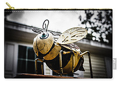Bumble Bee Of Happiness Metal Statue Carry-all Pouch