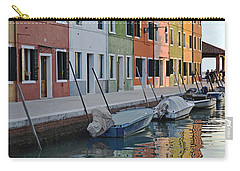Carry-all Pouch featuring the photograph Burano Canal by Rebecca Margraf