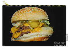 Carry-all Pouch featuring the photograph Burgerlicious by Cindy Manero