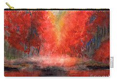 Burning Lake Carry-all Pouch by Yoshiko Mishina