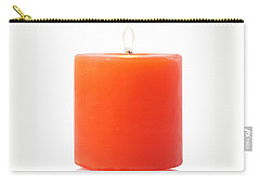 Carry-all Pouch featuring the photograph Burning Red Candle by Atiketta Sangasaeng