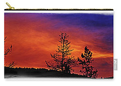 Carry-all Pouch featuring the photograph Burning Sunrise by Janie Johnson