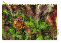 Carry-all Pouch featuring the photograph Butterfly Camouflage by Dan Friend