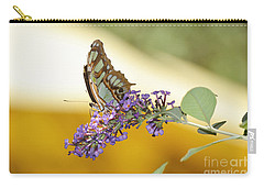 Butterfly Lavender Branch Carry-all Pouch by Andrea Hazel Ihlefeld
