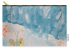 Carry-all Pouch featuring the painting Butterfly Flight by Sonali Gangane