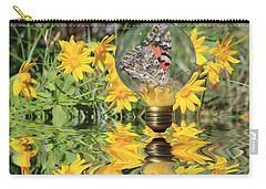 Butterfly In A Bulb II - Landscape Carry-all Pouch