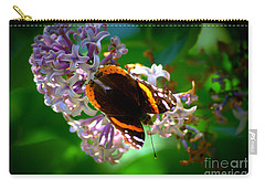 Butterfly On Lilac Carry-all Pouch