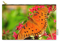 Carry-all Pouch featuring the photograph Butterfly On Pentas by Carla Parris