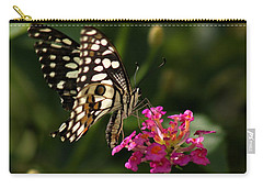Carry-all Pouch featuring the photograph Butterfly by Ramabhadran Thirupattur