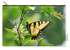 Carry-all Pouch featuring the photograph Butterfly Tiger Swallow by Peggy Franz