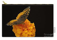 Carry-all Pouch featuring the photograph Butterfly Visitor by Cindy Manero