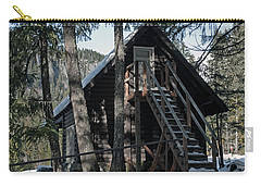 Carry-all Pouch featuring the photograph Cabin Get Away by Tikvah's Hope