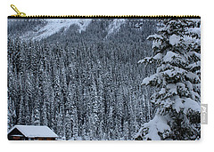 Cabin In The Snow Carry-all Pouch by Alyce Taylor