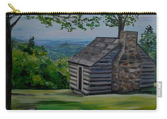 Carry-all Pouch featuring the painting Cabin On The Blue Ridge Parkway In Va by Julie Brugh Riffey