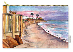 Carry-all Pouch featuring the painting California Coast by Clara Sue Beym