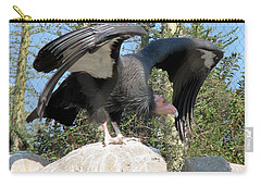 Carry-all Pouch featuring the photograph California Condor by Carla Parris