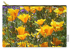Carry-all Pouch featuring the photograph California Poppies by Carla Parris