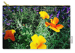 Carry-all Pouch featuring the photograph California Poppy by Nina Prommer