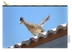 Carry-all Pouch featuring the photograph California Roadrunner by Carla Parris