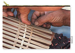 Carry-all Pouch featuring the photograph Cambodian Basket Weaver by Nola Lee Kelsey