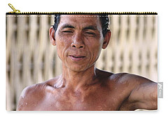 Carry-all Pouch featuring the photograph Cambodian Dignity by Nola Lee Kelsey