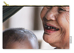 Carry-all Pouch featuring the photograph Cambodian Grandmother And Baby #2 by Nola Lee Kelsey