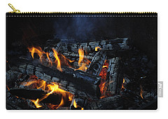Carry-all Pouch featuring the photograph Campfire by Fran Riley