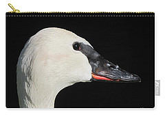 Trumpeter Swan Carry-all Pouch by Maciek Froncisz