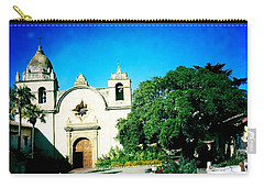 Carry-all Pouch featuring the photograph Carmel Mission by Nina Prommer