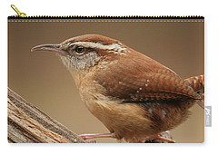Carry-all Pouch featuring the photograph Carolina Wren by Daniel Reed