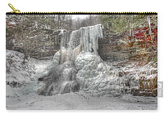Cascades In Winter 1 Carry-all Pouch by Dan Stone