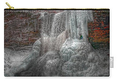 Cascades In Winter 3 Carry-all Pouch by Dan Stone