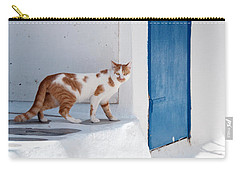 Cat In Mykonos Carry-all Pouch