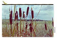 Carry-all Pouch featuring the photograph Cat Tails by Bonfire Photography