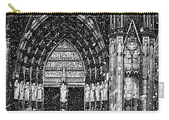 Carry-all Pouch featuring the photograph Cathedral In The Snow Panorama by Andy Prendy