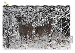 Carry-all Pouch featuring the photograph Caught In The Snow Storm by Elizabeth Winter