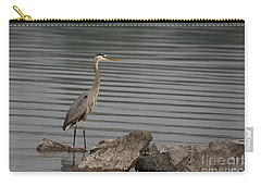 Carry-all Pouch featuring the photograph Cautious by Eunice Gibb